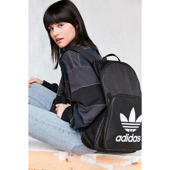Adidas Originals Classic Trefoil Black Backpack. M 5ae7a354a6e3ea4b9a92567f 0c571ca90f0a1